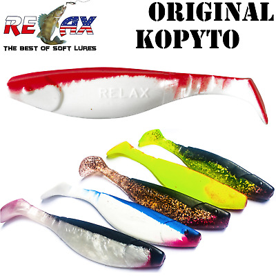 Relax Lures Kopyto 4' 10 Cm Artificiale Shad In Gomma Luccio Bass Perca