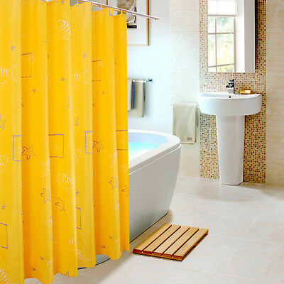 Shower Curtain 1.8m / 2m long  Waterproof, 100% Polyester fabric , free shipping