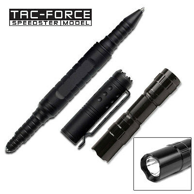 Tac Force YC-124ST MULTITANIUM TOOL KNIFE Tactical Pen and Flashlight n Gift Box