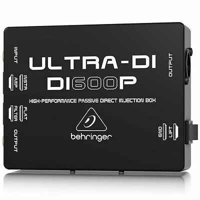 Behringer DI600P High-Performance Passive Direct Injection Box Guitar Bass Buzz