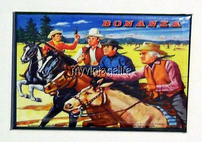 "BONANZA  Metal LUNCHBOX   2"" x 3"" Fridge MAGNET ART  Side A"
