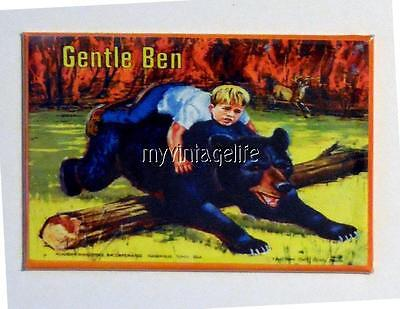 "GENTLE BEN  Metal LUNCHBOX   2"" x 3"" Fridge MAGNET ART"