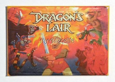 "DRAGON'S LAIR Metal LUNCHBOX   2"" x 3"" Fridge MAGNET ART"