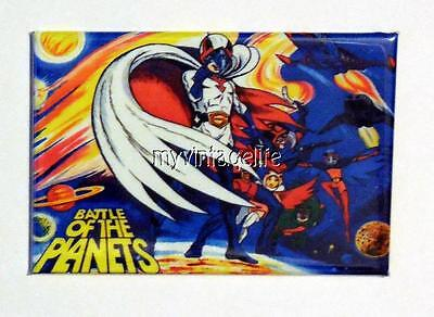 "BATTLE OF THE PLANETS Metal LUNCHBOX   2"" x 3"" Fridge MAGNET ART"