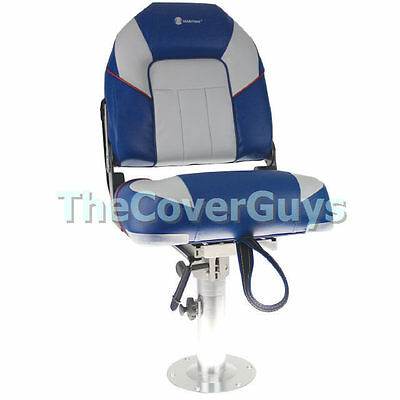 Boat Seat Premium Heavy Duty Centurion Folding Grey/Blue
