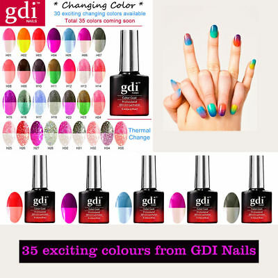 All New GDi Nails Thermal Color Change UV LED Soak Off Gel Nail Polish UK SELLER