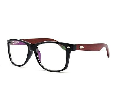 4082f4a4320 Fashion Mens Wooden Glasses Frame Oversized Eyeglasses Frames Rx-able  Spectacles