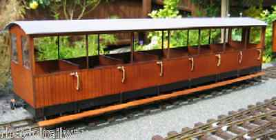 Vale of Rheidol Summer Passenger Bogie Coach Kit,IP engineering,SM32 Garden 16mm