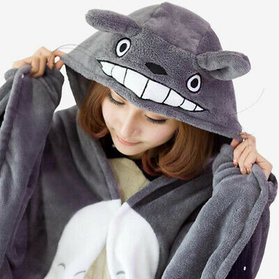 Anime My Neighbor Totoro Lovely Plush Soft Cloak Cosplay Cloak Hoodie Sleepwear