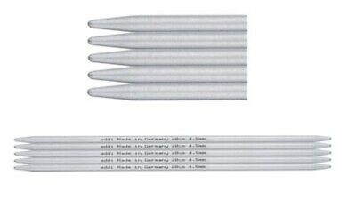 "AUD addi 10cm / 4"" DPN knitting needles Aluminium 201-7"