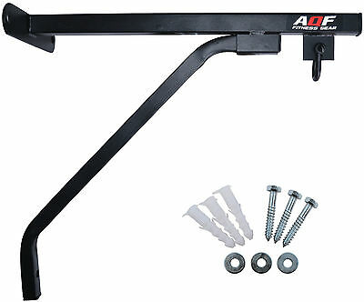 AQF Heavy Duty Punch Bag Wall Bracket Steel Mount Hanging Stand Boxing MMA UFC