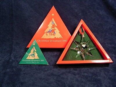 Swarovski Christmas Ornament Set 1991 Until 2001 With Box/certificate
