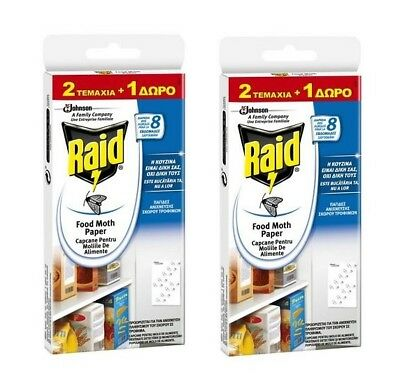 Raid SC Johnson Food Moth Trap - Odourless - Works for up to 8 weeks 2 Pack