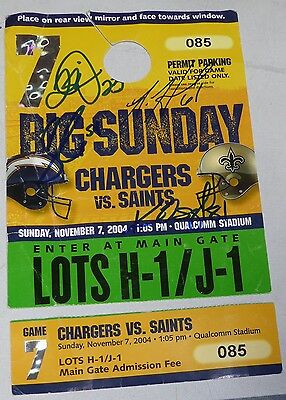 Quentin Jammer Nick Hardwick Kassim Osgood Stephen Cooper Signed Chargers Pass