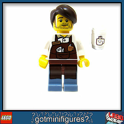 LEGO® MOVIE SERIES - 71004 - LARRY THE BARISTA - minifigure (#10) BRAND NEW!