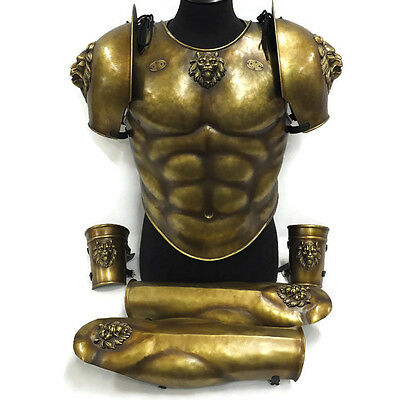 Larp Armour Classical,Greek,Roman Lion Muscle Armour Set