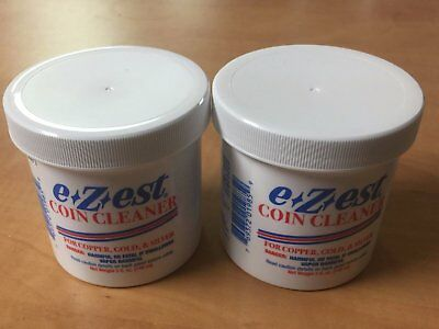 5oz E-Z-Est E-zest Ezest  Coin Cleaner for Gold Silver and Copper Coins 2 PACK