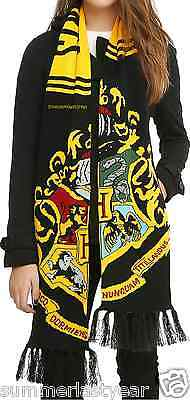 "Harry Potter ""hogwarts Crest"" Super Warm Knit Scarf Free Shipping"