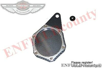 Motorcycle Chrome Plated Carbon Tax Disc Token Holder Motorbikes Spares2U