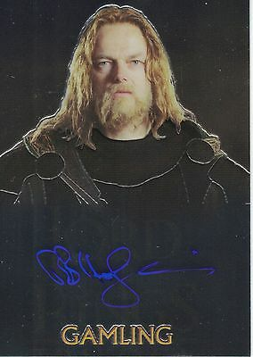 Lord of the Rings Topps Chrome Trilogy: Bruce Hopkins (Gamling) autograph
