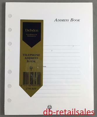 Genuine Debden Telephone Address Book - Refill * 6 ring * 2790.RFP * BNIP