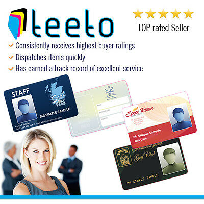 Plastic ID Cards - Custom Printed Company Staff Business Plastic PVC ID badges