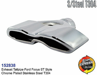 Exhaust tip tailpipe trim OD 64mm chrome plated to give a Ford Focus ST look