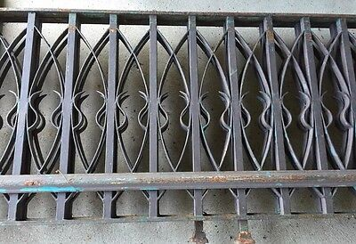 2 Vintage Architectural Cast Iron Old Hotel Chicago Railings & 2 Corner Posts