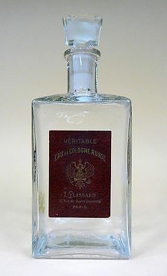Perfume Bottle L. Plassard Paris Eau de Cologne Russe