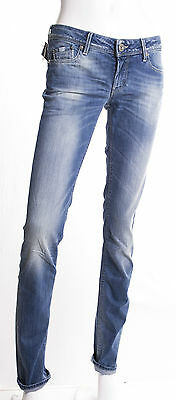Jeans Gas Donna Britty Body Fit W 572  Slim Stretch Lavaggio Invecchiato Chiaro
