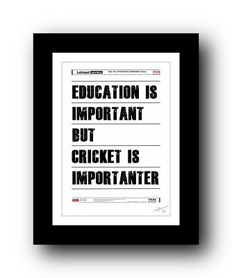❤ Cricket ❤  typography poster art signed limited edition print - cool gift