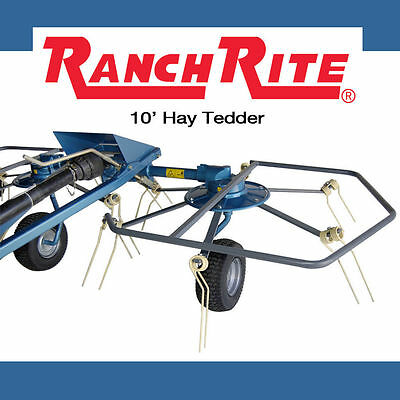 *New* 2 Star Hay Tedder, 10 foot Hay Rake/Tedder -  Ranch Rite Farm Equipment