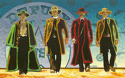 """""""Looking for Trouble"""" Michael Blessing Masterwork Edition 38"""" Giclee Canvas"""