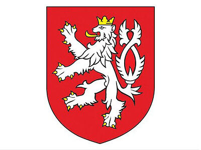 3x4 inch Czech Republic Crest Sticker - decal coat of arms emblem Bohemia lion