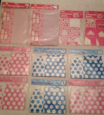 Job Lot Of 44 Cupcake & Party Favour Boxes FREE POSTAGE