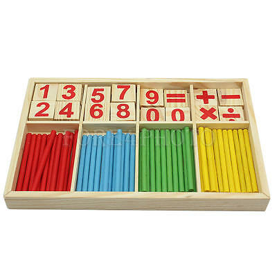 Educational Game Wooden Counting Math Counters Sticks Toys for Children Kids