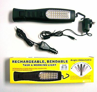 30 Led Work Light Torch Rechargeable *new* Adjustable Angle 3W 12V / 240V