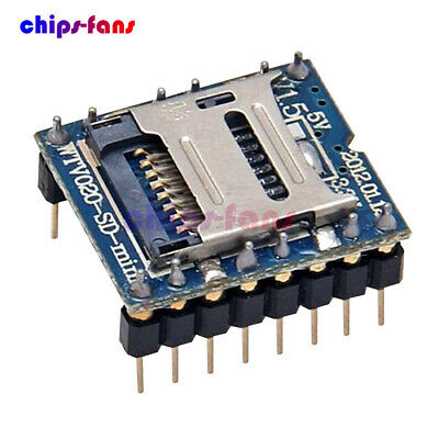 WTV020-SD-16P U-disk audio play Mini TF SD Card MP3 Sound Module For PIC Arduino