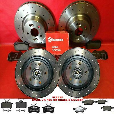 For Renault Megane 2.0 sport cup 225 Drilled front rear brake discs pads bearing