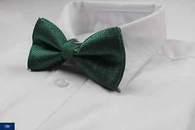 Mens Green And Silver Pattern Bow Tie Pre-Tied Men's Bowtie Wedding Formal Ties