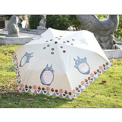 My Neighbor Totoro Strong Water-repellent Anti-UV Folding Parasol Sun Umbrella