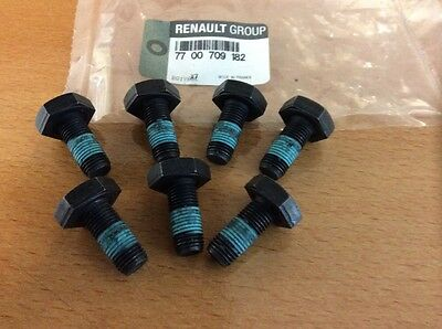 Genuine Renault Flywheel Bolts x7 Clio Megane Scenic 7700709182 / 8201284583