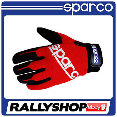 Sparco Meca-2 Gloves, size S red, CHEAP DELIVERY WORLDWIDE,  mechanics gloves