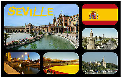 Seville, Spain - Souvenir Novelty Fridge Magnet - Brand New - Gift / Xmas