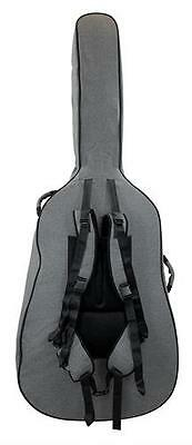 Tom and Will 46BS34-315 Upright Double Bass Gig Bag Case 3/4 Size, Grey **NEW**