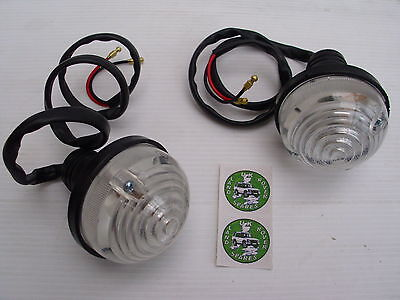 Land Rover Series 2 & 3 Front Side Light / Lamps - Pair Of Side Lamps - Rtc5012