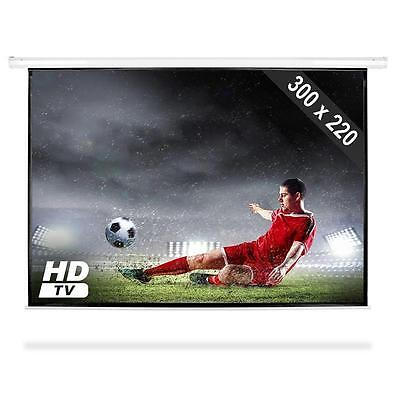 "150"" Projector Screen Hd Cinema Motorised Projection Screens *free P&p Uk Offer"