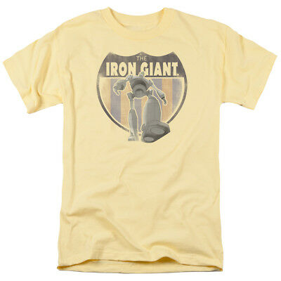 The Iron Giant Vintage Style Patch Cartoon Movie Adult T-Shirt Tee