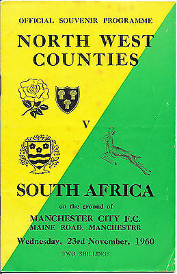 1960 - North West Counties v South Africa, Touring Match Programme.