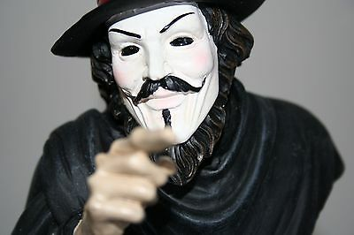 New Guy Fawkes Mask V for Vendetta Figural Beer Tap Handle RARE! Anonymous
